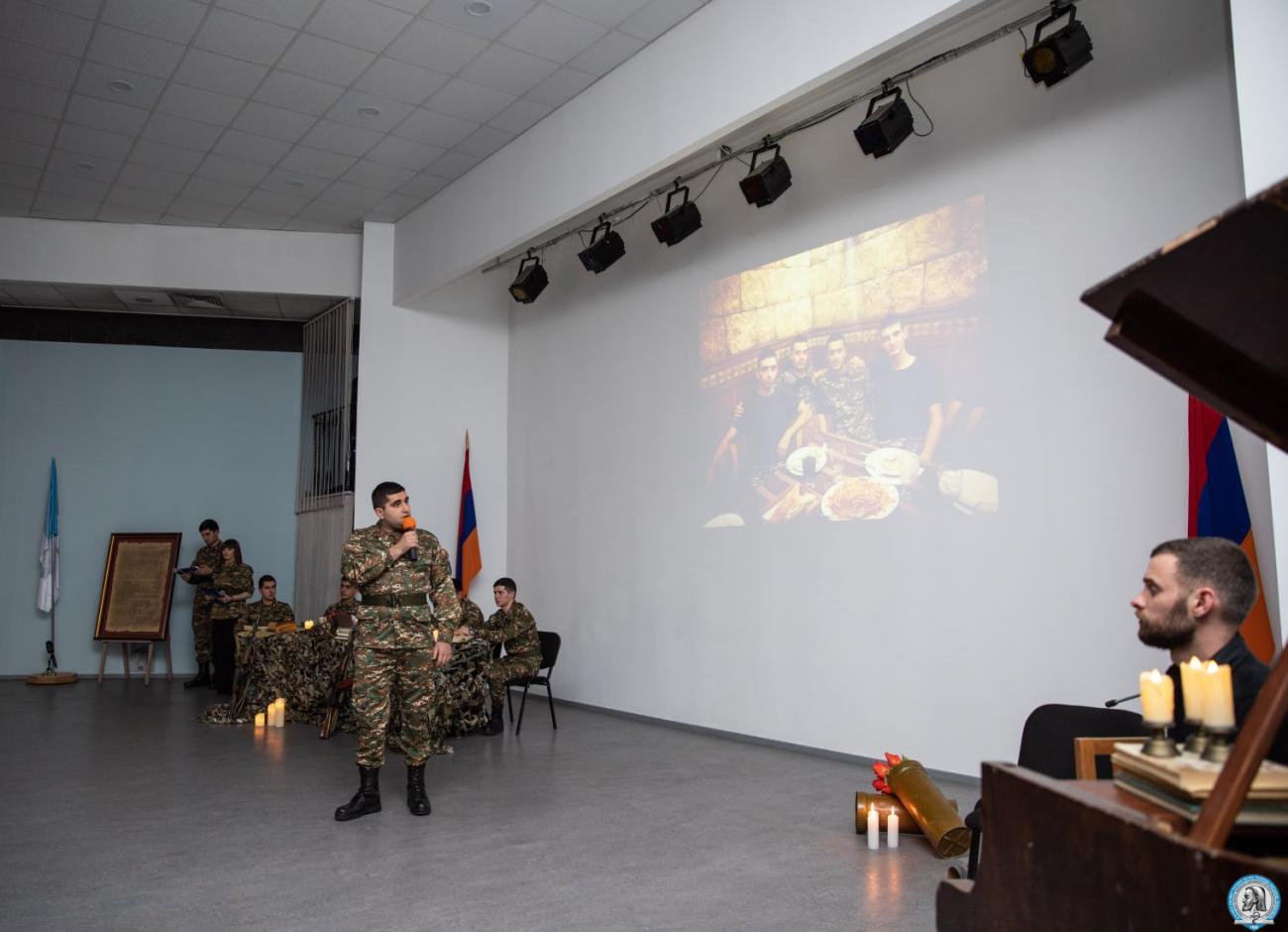 Հուշ-երեկո՝ նվիրված ԵՊԲՀ ռազմաբժշկական ֆակուլտետի անմահացած ուսանող Ազատ Զաքարյանին