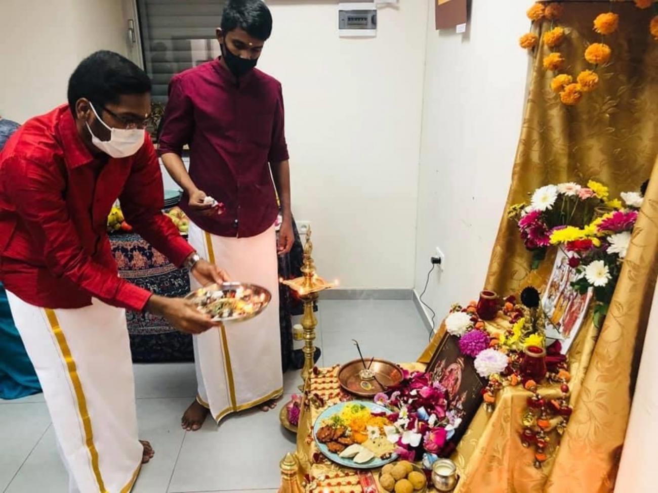 YSMU Indian students celebrated Ganesh Chaturthi festival