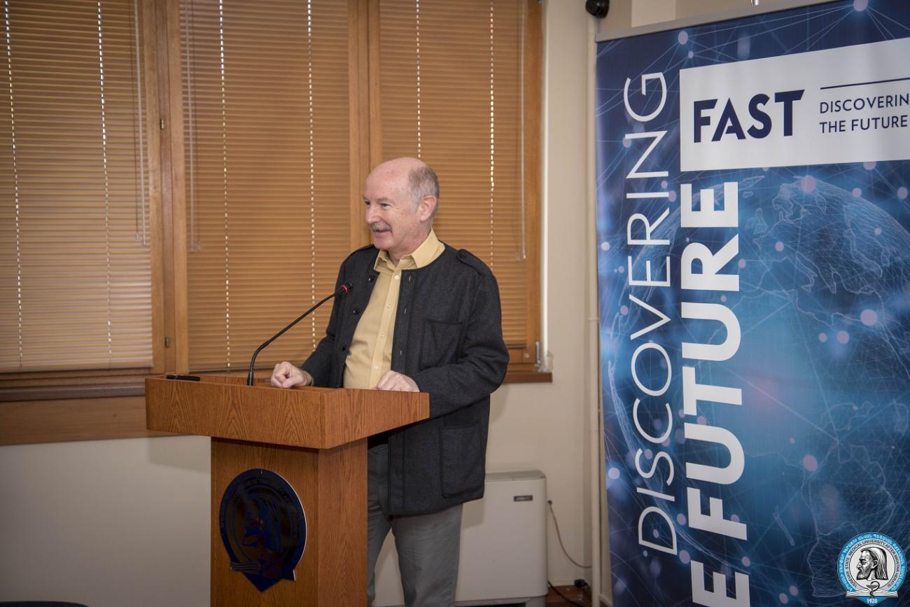 «Ուղեղի նախաձեռնություն»  համաշխարհային նախագծի ջատագովներից Ռաֆայել Ջուստի դասախոսությունը նվիրված էր ուղեղի հետազոտություններին