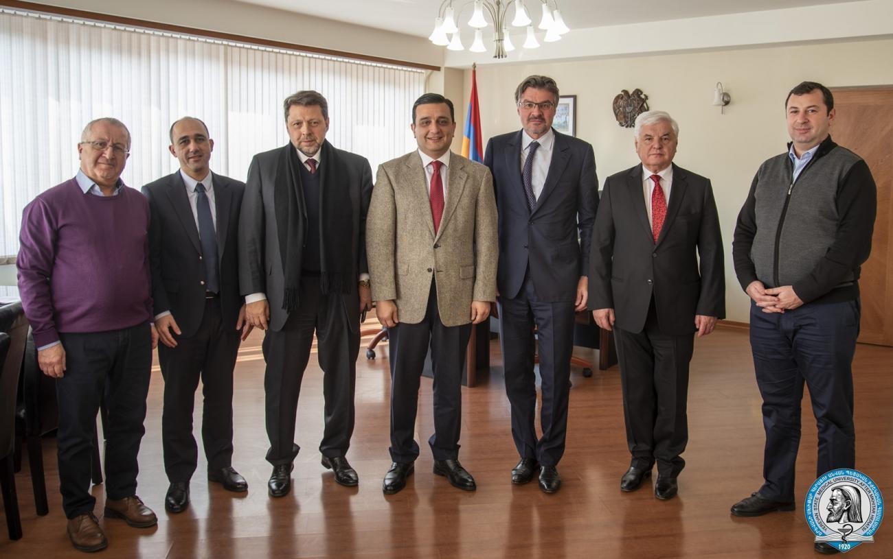 ԵՊԲՀ ռեկտորն ընդունել է շվեյցարացի և ռուսաստանցի գործընկերներին